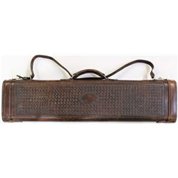 Nicely crafted leather shotgun or rifle case