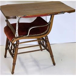 Antique combination table chair