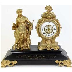 Ansonia statue shelf clock