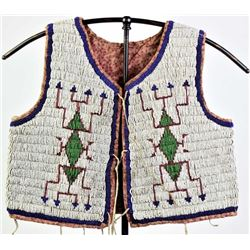 1890s-1900 Sioux beaded childs vest
