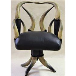 19th century horn swivel chair