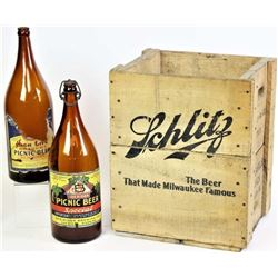 Original wood Schlitz Beer crate