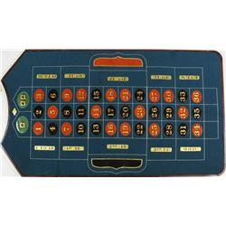 WM. Ellis traveling roulette layout board