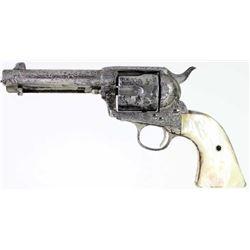 Factory engraved Colt SA .38 cal. SN21XXXX