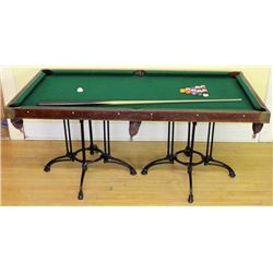 Small antique Burrows pool table