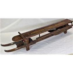 Antique primitive bobsled