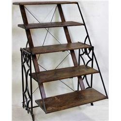 Scarce combination display shelf-table