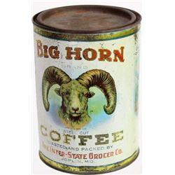 Hard to find Big Horn Coffee tin