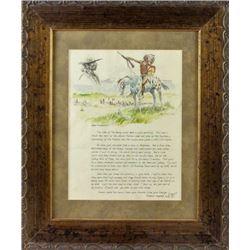 Original illustrated letter from Joe Beeler