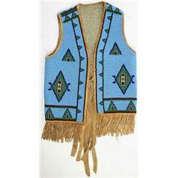 Fully beaded Plains childs vest