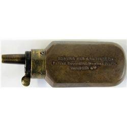 Original brass powder flask for cased Robbins
