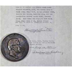 President Millard Fillmore 1850 Indian peace medal