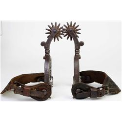Large early California style spurs