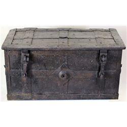 17th C. iron bound armada or treasure chest,