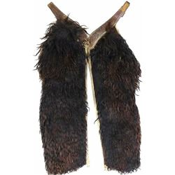 Unmarked black woolie chaps