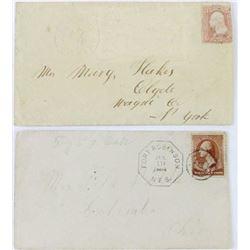 Collection of 2 rare envelopes
