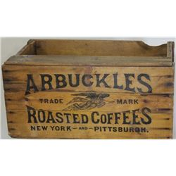 Large Arbuckles Roasted Coffee crate