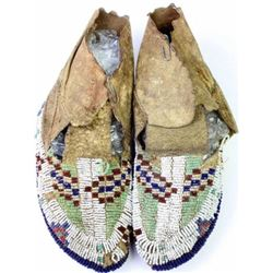 C. 1890's fully beaded Sioux mocassins