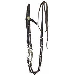 Unusual linked leather pony bridle