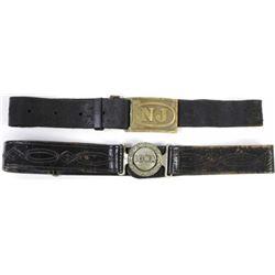 Collection of 2 saber belts