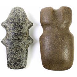 2 stone artifacts, Michigan barbed axe indentified