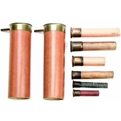 Collection of 8 antique shotgun shells