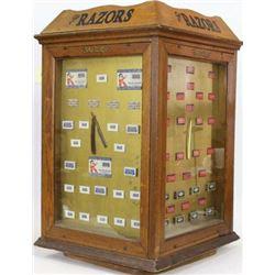 Early oak Shuredge Mercantile display case