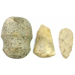 Collection of 3 stone artifacts