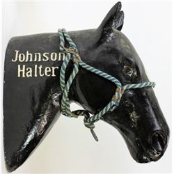 Rare Johnson Halter advertising horse head