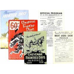 3 Cheyenne Frontier Days rodeo programs