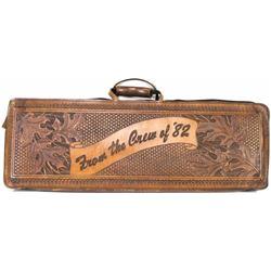 Leather rifle or shotgun take down case