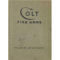 1933 Colt Firearms catalog