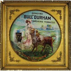 Large Bull Durham Tobacco advertiser