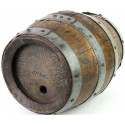 Original John Gund Brewing Co half barrel keg