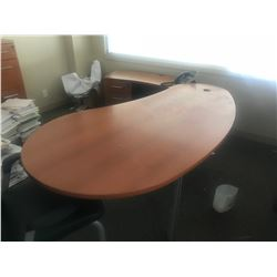 CHERRY L-SHAPED EXECUTIVE DESK (UPSTAIRS)