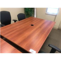 CHERRY 4' X 6' BOARDROOM TABLE (UPSTAIRS)