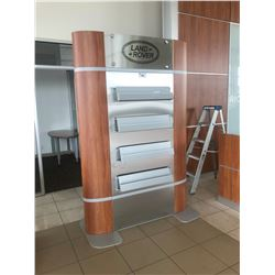 7' TALL CHERRY DOUBLE SIDED LITERATURE RACK