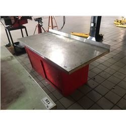 6' RED SHOP BENCH