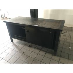 6' HEAVY DUTY STEEL SHOP BENCH, WITH NO VICE