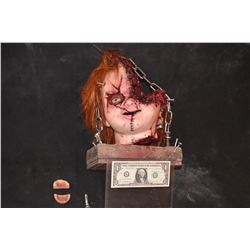 CULT OF CHUCKY SCREEN MATCHED COMPLETE SEVERED CHUCKY HEAD PUPPET A TRUE MODERN HORROR GRAIL!