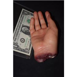 SEVERED SILICONE HAND WITH GORE