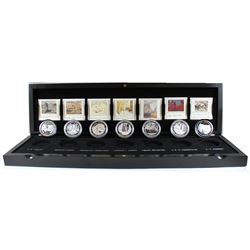 RCM Issue: 2012-2013 Canada $20 Complete Group Of Seven 7-coin Fine Silver Set in Deluxe Display Cas