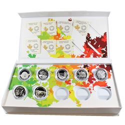 RCM Issue: 2014 O Canada $10 Fine Silver Set with Deluxe Box. This Set includes 7 out of 10 of the C
