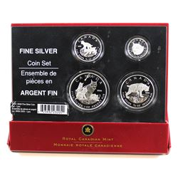 RCM Issue: 2005 Canada The Lynx .9999 Fine Silver Fractional 4-coin Set. Comes in original case, how