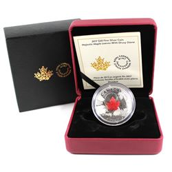 RCM Issue: 2017 Canada $20 Majestic Maple Leaves with Drusy Stone Fine Silver Coin (TAX Exempt)
