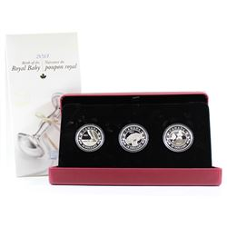 RCM Issue: 2013 Canada $20 Birth of the Royal Baby 3-Coin Fine Silver Set (outer sleeve lightly scuf