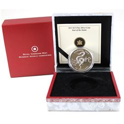 RCM Issue: 2013 Canada $15 Zodiac Year of the Snake Fine Silver Coin (display box has glue discolour