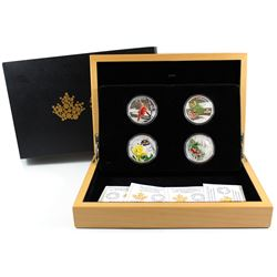RCM Issue: 2015 $20 Forests of Canada Fine Silver 4-coin Set in Deluxe Display Case. You will receiv