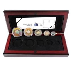 RCM Issue: 2003 Canada Hologram 5-coin Fine Silver Maple Leaf Set (missing outer sleeve and a few Co