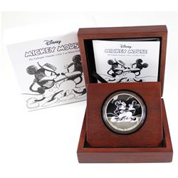 New Zealand Mint Issue: 2017 Niue $2 Mickey Through the Ages - The Gallopin' Gaucho Fine Silver Coin